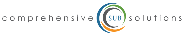 Comprehensive Sub Solutions logo with blue, green, and orange circles around the word sub.